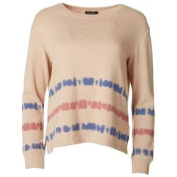 Jessica Simpson Womens Tie Dye Stripe Sweater