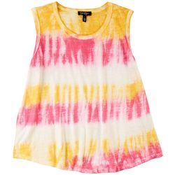 Jessica Simpson Womens Tye Dye Scoop Neck Tank Top