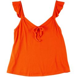 Jessica Simpson Womens Solid Printed Sleevless Top