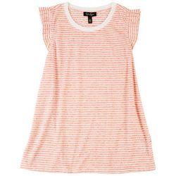 Jessica Simpson Womans Stripe Printed Dress