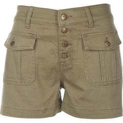 Womens Four Button Fly Shorts