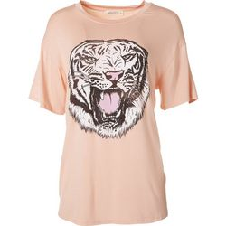 Wanderlux Womens Growling Tiger Graphic Tee