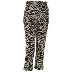 Wanderlux Womens Zebra Print Pull On Pants