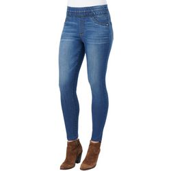 Democracy Womens Solid Denim Pull On Jeggings