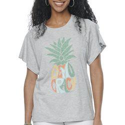 Democracy Womens Solid Screen Print Tshirt