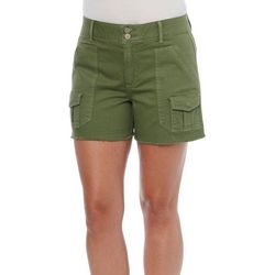Democracy Womens Solid Roll Cuff Shorts