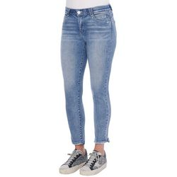 Womens High Rise Ankle Denim Jeans