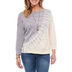Democracy Womens Tie Dye Pocket Sweater