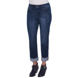 Democracy Womens Ab-solution Roll Cuff Slim Jeans