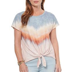 Womens Tye Dye Front Tie Top
