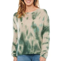 Democracy Womens Tie Dye Print Sweater