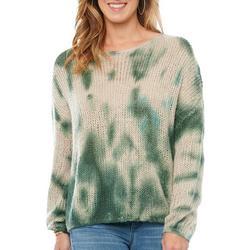 Womens Tie Dye Print Sweater