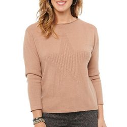 Womens Star Front Sweater