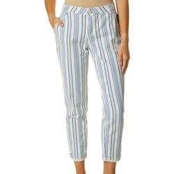Democracy Womens Ab-solution Striped Cuff Denim Jeans