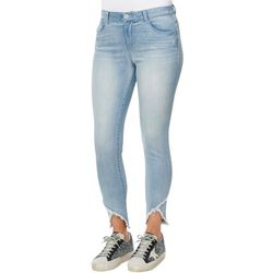 Womens Criss Cross Skinny Ankle Jeans