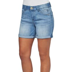 Democracy Womens Whiskered Roll Cuff Mid Shorts