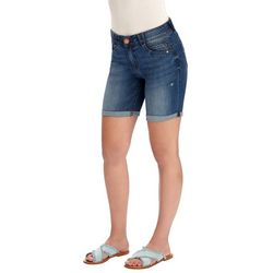 Democracy Womens Denim Roll Cuff Shorts