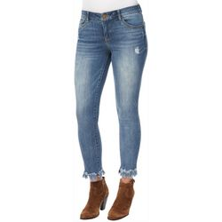 Democracy Womens Ab-solution Fray Hem Jeans