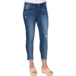 Democracy Womens Distressed Roll Cuff Ankle Jeans