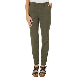 Vintage America Womens Solid Twill Skinny Leg Pants