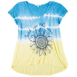 Southern Spirit Womens Soak Up The Sun Tie Dye T-Shirt