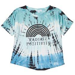 Southern Spirit Womens Radiate Positivity Tie Dye T-Shirt
