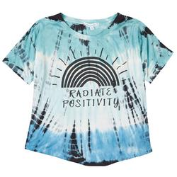 Womens Radiate Positivity Tie Dye T-Shirt