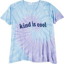 Dreamsicle Womens Kind Is Cool Tie Dye T-Shirt