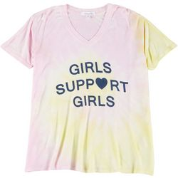 Dreamsicle Juniors Girls Support Girls Tie Dye T-Shirt