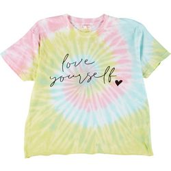 Dreamsicle Juniors Love Yourself Tie Dye Graphic Tee