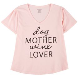 Southern Spirit Womens Dog Mother Wine Lover T-Shirt