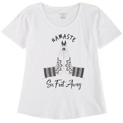 Womens Namaste Six Feet Away T-Shirt