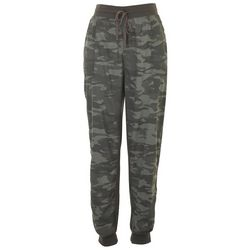 Seven 7 Womens Camo Drawstring Denim Joggers
