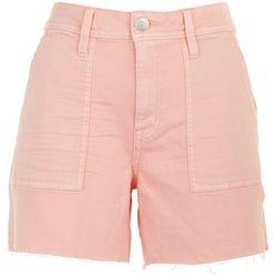 Seen 7 Womens Denim Bermuda Shorts