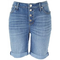 Seven 7  Womens Cuffed Denim Shorts