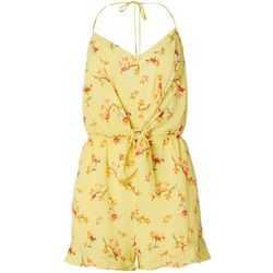 Womens Floral Print Sleeveless Romper