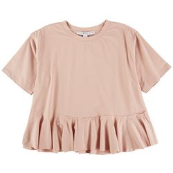 HYFVE Womens Solid Babydoll Top