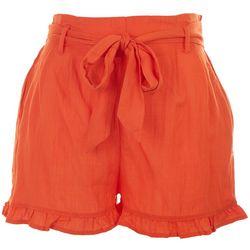 HYFVE Womens Cuffed Tie Waist Shorts