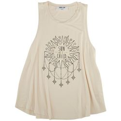 DOUBLE ZERO Womens Screen Print Sun Tank Top