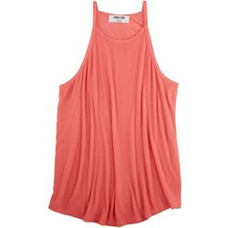 DOUBLE ZERO Womens High Neck Sleeveless Top