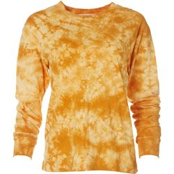 Double Zero Womens Tie Dye Long Sleeve Top
