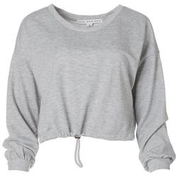 Womens Solid Cropped Sweater