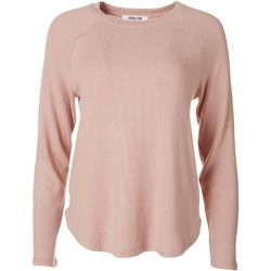 Double Zero Womens Solid Flowy Long Sleeve Sweater