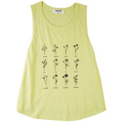 DOUBLE ZERO Womens Flower Of The Month Tank Top