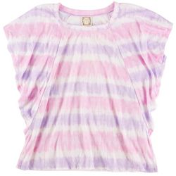 Tru Self Womens Tye Dye Flowy Sleeves Top