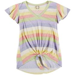 Tru Self Womens Rainbow Colors T-Shirt