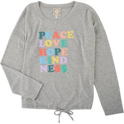Womens Quoted Long Sleeve Graphic Sweater