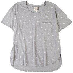 Tru Self Womens Daisy V Neck Tshirt