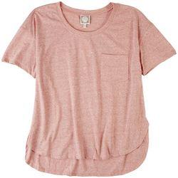 Tru Self Womens Solid V Neck Tshirt