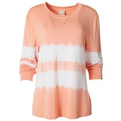 Tru Self Womens Tie Dye Long Sleeve Top